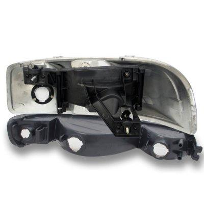 GMC Sierra 1500HD 2001-2007 Black Headlights and Bumper Lights