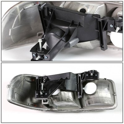 GMC Yukon XL 2000-2006 Black Headlights and Bumper Lights