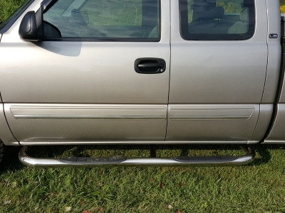 Running Boards For Chevy Silverado 2014 >> Chevy Silverado Extended Cab 1999-2014 Nerf Bars Stainless Steel | A101JR0K214 - TopGearAutosport