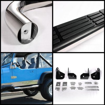 1988 Jeep Wrangler YJ Nerf Bars Stainless Steel