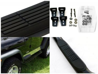 Jeep Wrangler YJ 1987-1995 Nerf Bars Black