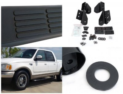 ford f150 supercrew 2001-2003 nerf bars black | a1274ops214