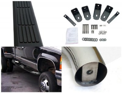 Chevy 1500 Pickup Extended Cab 1988-1999 Nerf Bars Stainless Steel