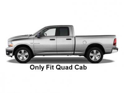 Dodge Ram Quad Cab 2009-2015 Nerf Bars Black 3 Inches
