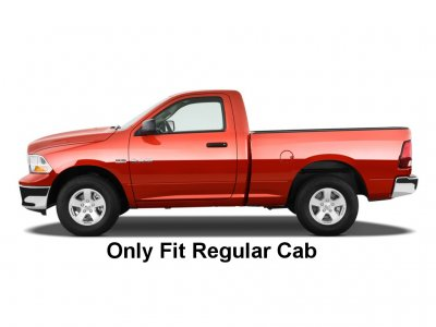 Dodge Ram 1500 Regular Cab 2009-2015 Nerf Bars Black 3 Inches