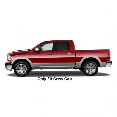 Dodge Ram Crew Cab 2009-2015 Nerf Bars Black 3 Inches