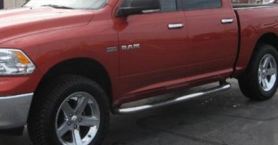 Dodge Ram Crew Cab 2009-2015 Nerf Bars Stainless Steel 3 Inches