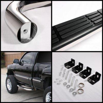 Chevy Silverado 2500HD Regular Cab 2001-2013 Nerf Bars Stainless Steel