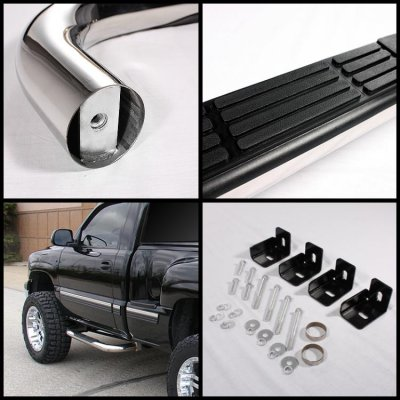 Chevy Silverado 3500HD Regular Cab 2007-2013 Nerf Bars Stainless Steel