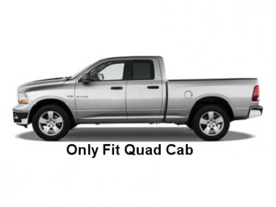 Dodge Ram Quad Cab 2009-2015 Nerf Bars Stainless Steel 3 Inches