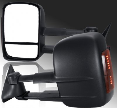 Chevy Silverado 3500HD 2003-2006 Towing Mirrors Power Heated LED Signal Lights