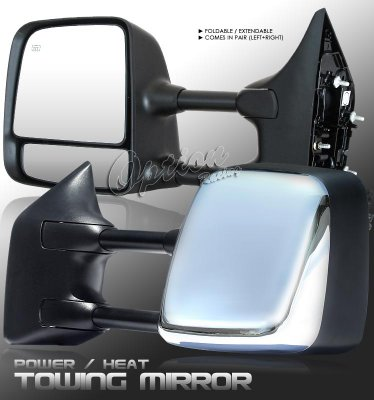 2006 Nissan Armada Chrome Towing Mirrors with Power Heated Mirror