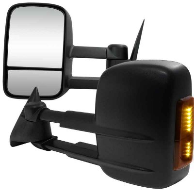 Chevy Tahoe 1995 1999 Black Power Heated Led Signal Towing