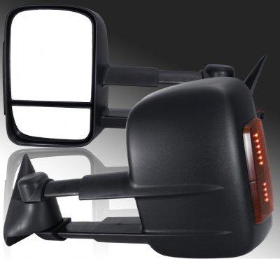 GMC Sierra 2500HD 2003-2006 Towing Mirrors Power Heated LED Signal Lights