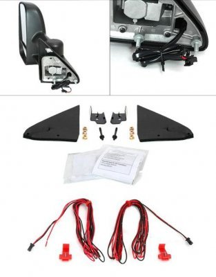 chevy 1500 pickup 1988 1998 towing mirrors manual led. Black Bedroom Furniture Sets. Home Design Ideas