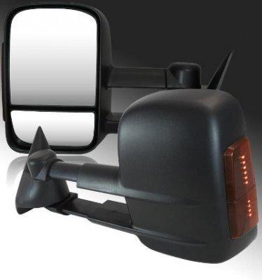 Chevy Silverado 1994-1998 Towing Mirrors Manual LED Signal Lights