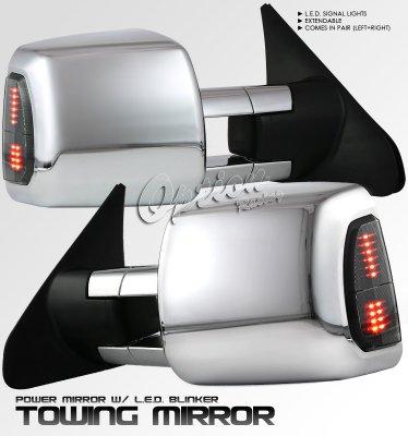 Toyota Tundra 2007 2013 Chrome Towing Mirrors Power Heated