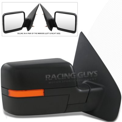Ford F Black Power Side Mirrors