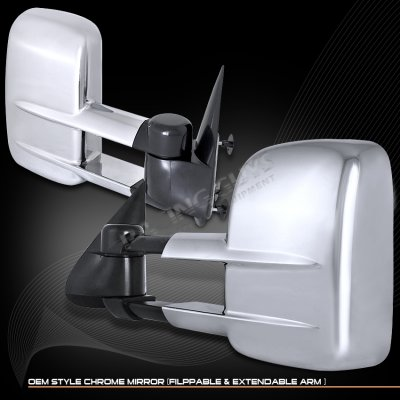 Chevy Avalanche 2002 2006 Chrome Manual Towing Mirrors