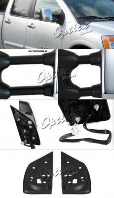 Infiniti QX56 2004-2010 Chrome Towing Mirrors Power Heated