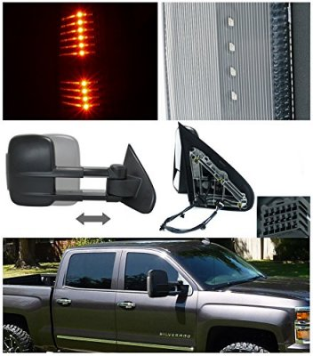 chevy silverado 2500hd 2015 2018 towing mirrors power heated led signal lights a122yknn221. Black Bedroom Furniture Sets. Home Design Ideas