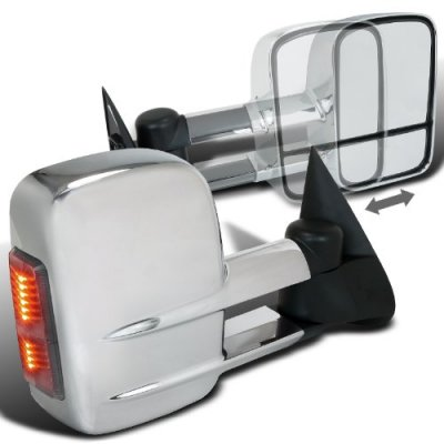 GMC Yukon 2000-2006 Power Heated Towing Mirrors Chrome LED Signal Lights