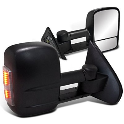 Chevy Silverado 2500HD 2015-2018 Towing Mirrors Power Heated LED Signal Lights