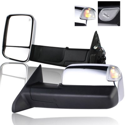 Dodge Ram 3500 2010 2012 Towing Mirrors Chrome Power