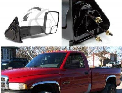 Dodge Ram 2500 1994-2002 Towing Mirrors Manual