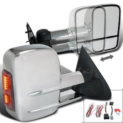 Ford F150 1997-2003 Power Towing Mirrors Chrome LED Signal Lights