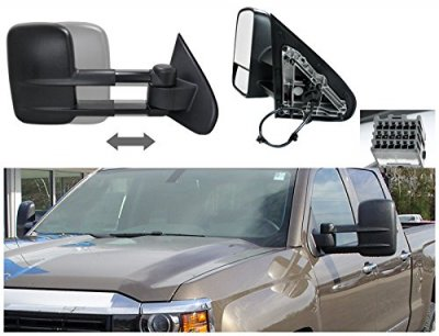 Chevy Silverado 2014 2015 Towing Mirrors Power Heated