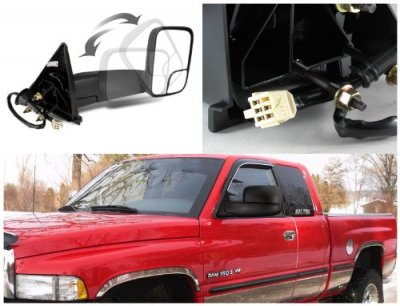 2000 Dodge Ram Towing Mirrors Power Heated