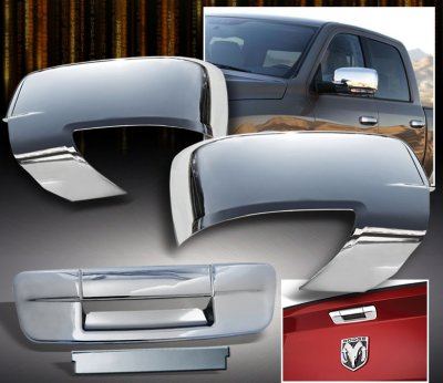 Dodge Ram 2009-2012 Chrome Mirror Covers and Tailgate Handle Cover