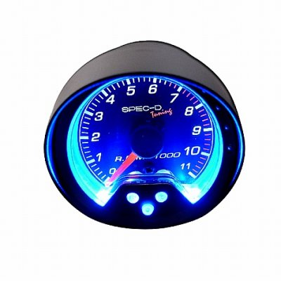 Black 2 Inches RPM Gauge