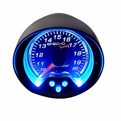 Black 2 Inches Air and Fuel Ratio Gauge