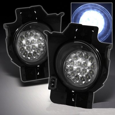 Nissan Altima Coupe 2008-2010 Clear LED Fog Lights