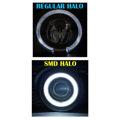 Dodge Ram 2500 2003-2009 SMD LED Halo Projector Fog Lights