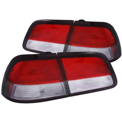 Nissan Maxima 1997-1999 Replacement Tail Lights Red and Clear