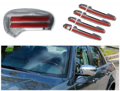 2010 Chrysler 300 Chrome Side Mirror Covers and Door Handles
