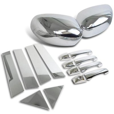 Chrysler 300 2005-2010 Chrome Side Mirror Covers with Door Handles and Pillars