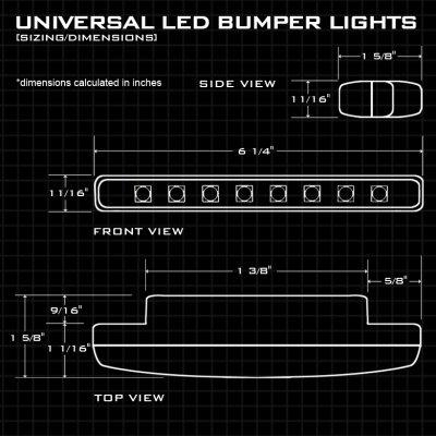 Black LED DRL Daytime Running Lights