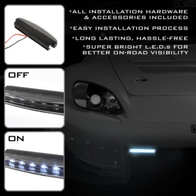 Black LED DRL Daytime Running Lights