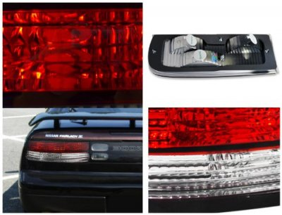 Nissan 300zx 1990 1996 Red And Clear Custom Tail Lights