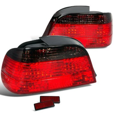 BMW 7 Series 1995-2001 Red and Smoked Custom Tail Lights