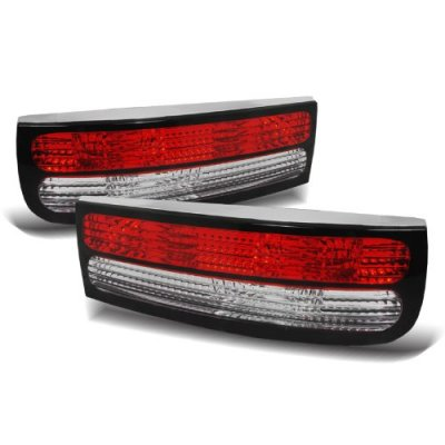 Nissan 300ZX 1990-1996 Red and Clear Custom Tail Lights
