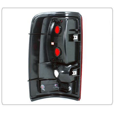 GMC Yukon XL Denali 2001-2006 Red and Clear Tail Lights