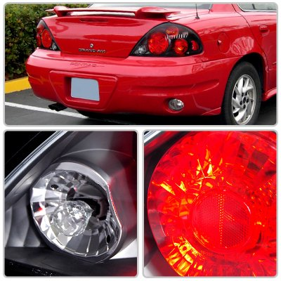 Pontiac Grand AM 1999-2005 Black Custom Tail Lights