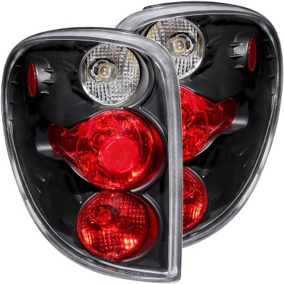 Dodge Caravan 2001-2007 Black Custom Tail Lights