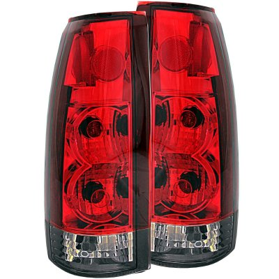 chevy tahoe 1995 1999 red and smoked custom tail lights. Black Bedroom Furniture Sets. Home Design Ideas