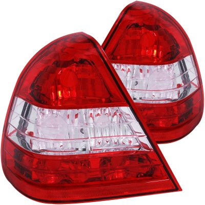 Mercedes Benz C Class Sedan 1994-2000 Custom Tail Lights Red and Clear